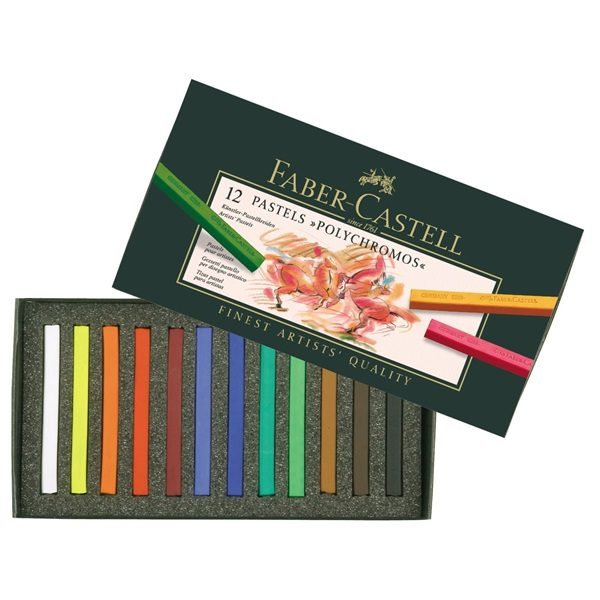 Faber-Castell Pastelkrijt 12 kleuren set
