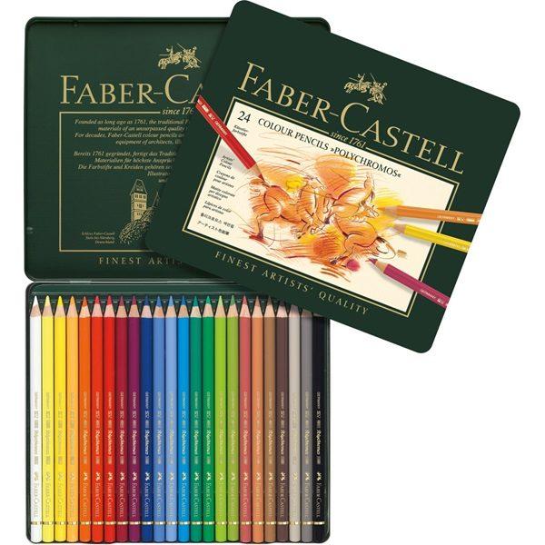 Faber-Castell Polychromos 24 Colour Pencils