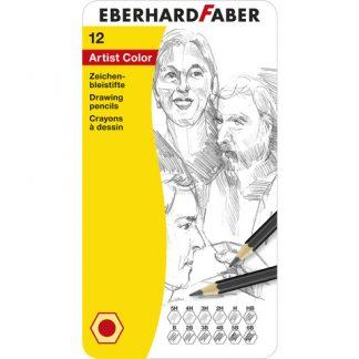 Potlood Eberhard Faber bliketui 12 hardtegraden