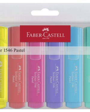 Tekstmarker etui met 8 stuks pastel
