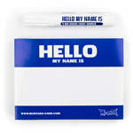 Hello my name is (Blauw) 100 stuks