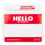 Hello my name is (Rood) 100 stuks