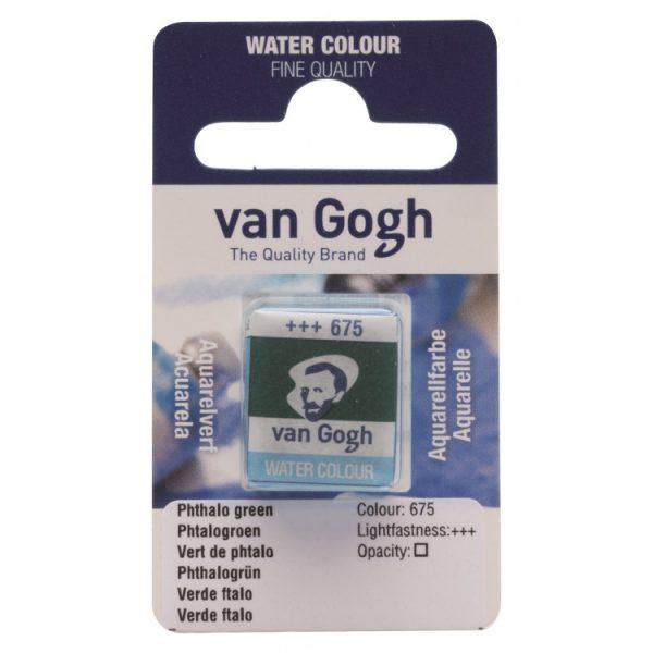 Van Gogh aquarelverf napje 675 Phtalogroen