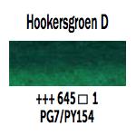 Van Gogh aquarelverf napje 645 Hookersgroen Donker