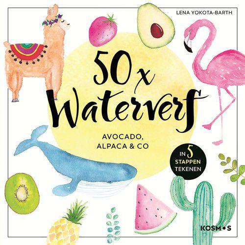 50x Waterverf boek