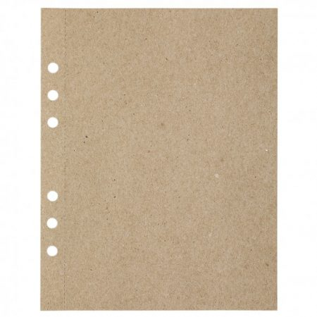 A5 MyArtBook Papier Recycled Kraft Fluting Grey 110 gram