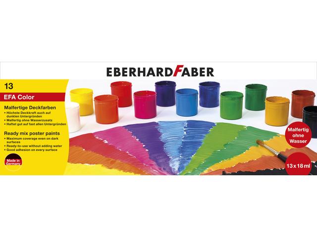 Verfset Eberhard Faber 13 potjes kant en klaar