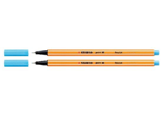 Fineliner Stabilo point 88/57 azuur blauw