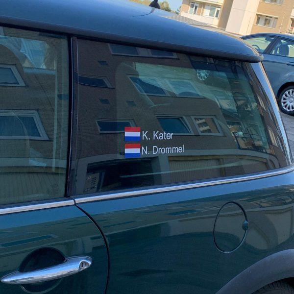 Auto Sticker Nederlandse Vlag Met Eigen Naam